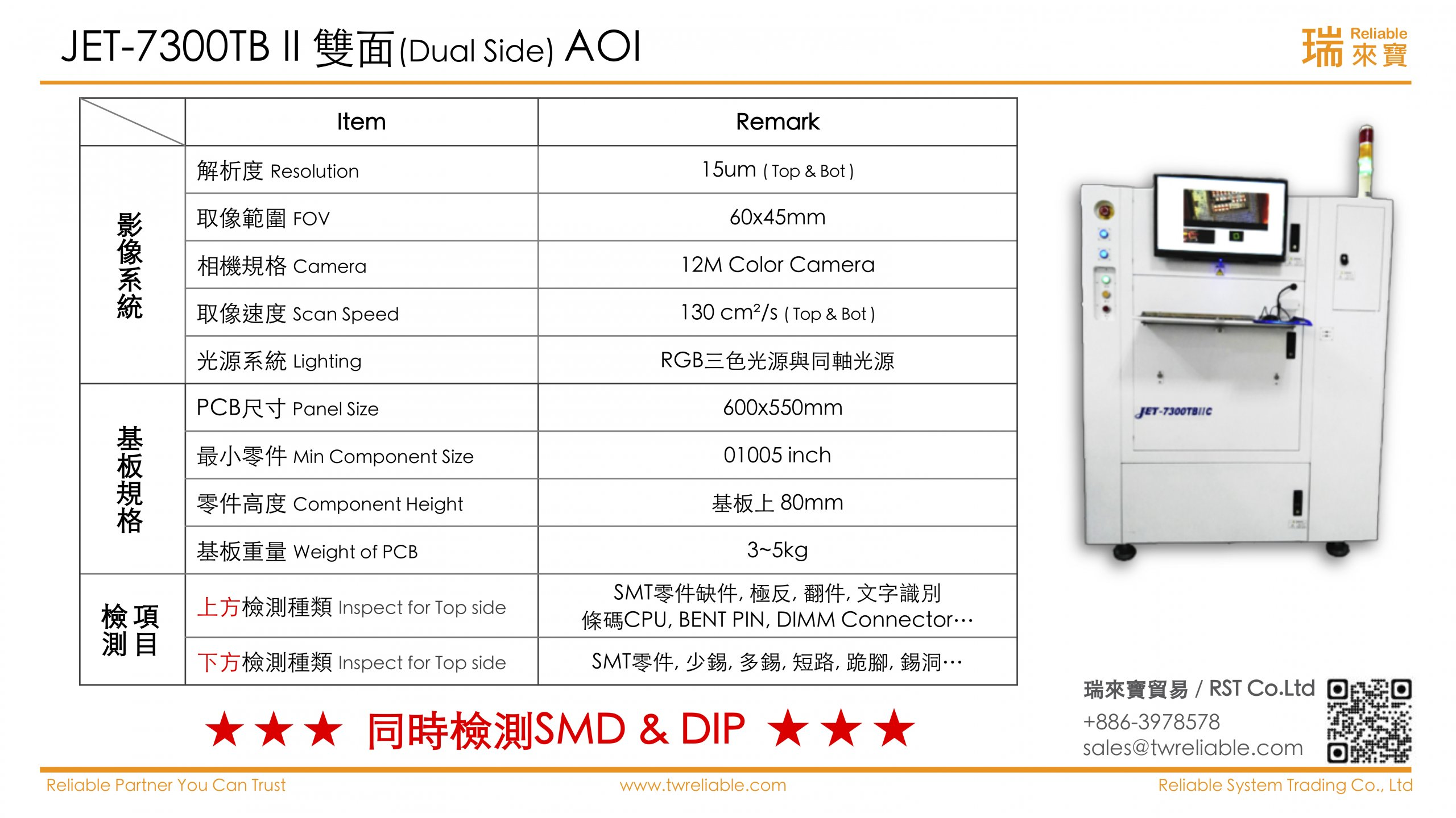 RST-Dual Side AOI_JET 7300TB